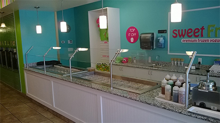 Buffet Glass at Sweet Frog from Royal Glass in West Virginia